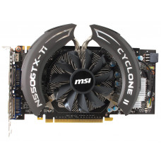Видеокарта MSI GeForce GTX 550 Ti Cyclone II 1Gb Мб GDDR5 192bit, Б/У