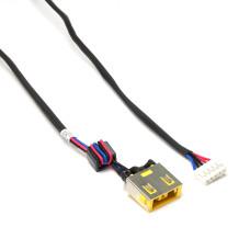 Разъем питания ноутбука 11x4.5 мм с иглой, PJ-585M для Lenovo IdeaPad G400S, G405S, G490 с кабелем 170 мм, Б/У