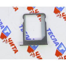 Лоток (держатель) для SIM-карты для Apple iPhone 4, 4S серебристый