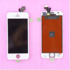 Дисплей с тачскрином Apple iPhone 5/5G белый A+ (TM)