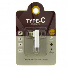 Адаптер Audio Type-C to 3.5 мм белый (Hi-Fi)