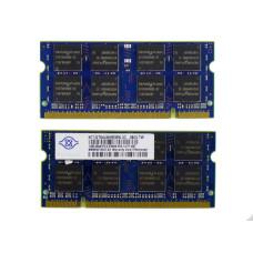 Память SODIMM DDR2 Nanya 1Gb, 667 МГц (PC2-5300) CL12 1.8V, Б/У
