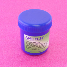 Флюс-гель Amtech NC-218-ASM, банка 100гр (флюс, шприц, кисточка)