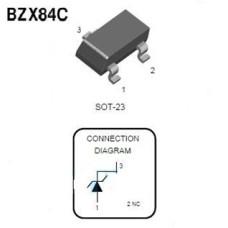Стабилитрон BZX84C 3.9V, 0.25W, 5%, SOT-23