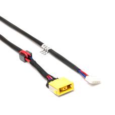 Разъем питания ноутбука 11x4.5 мм с иглой, PJ-585 для Lenovo IdeaPad G400, G500, G505 с кабелем 230 мм, Б/У