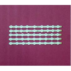 """Подсветка LED 39"""" VES390UNDC-01, VES400UNDS-01/02, 45LED, 3V, 353мм, 8 лент, текстолит"""