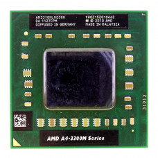 Процессор AMD A4-3310M 2.1 ГГц Socket FS1 (FS1r1), Lion (Griffin), TDP 35W, Б/У