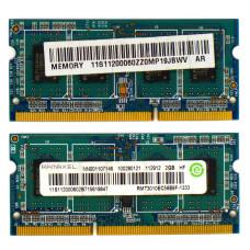 Память SODIMM DDR3 Ramaxel 2 Гб 1333MHz (PC3-10600) CL9 1.5V, Б/У