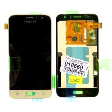 Дисплей с тачскрином Samsung Galaxy J1 (2016) SM-J120F золотой (Original)