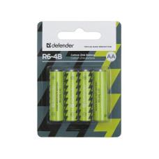 Батарейка Defender R6-4B AA LR06 1.5V (блистер 4шт)