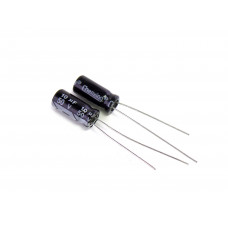 Конденсатор электролитический K50-35, 10uf, 50V, 5x12