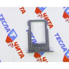 Лоток (держатель) для SIM-карты для Apple iPhone 5S серебристый