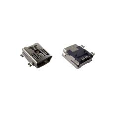 Разъем micro USB MU-01 5pin для Mini USB на плату, розетка угловая SMD