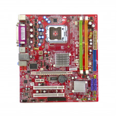 Материнская плата для ПК MSI, Socket LGA775, Intel 945GM, 2xDDR2 DIMM, FSB 1600 МГц, SATA x4, USB 3.0 xнет, microATX, Б/У