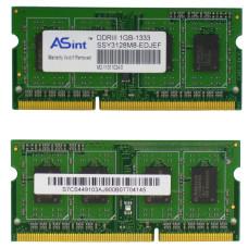 Память SODIMM DDR3 ASint 1Gb, 1333 MHz (PC3-10600) CL9 1.5V, Б/У