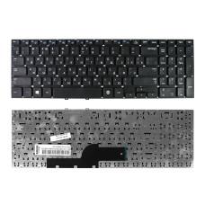 Клавиатура для ноутбука Samsung NP350V5C, NP355E5C, NP355E5X, NP355V5C, NP550P5C черная, рамка черная, плоский Enter, Б/У