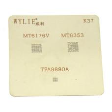 Трафарет BGA WYLIE K37 для MT6173V, MT6353, TF9890A