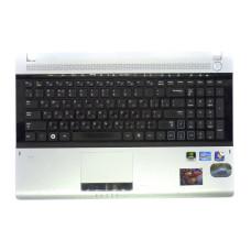 Верхняя часть корпуса BA75-03111C для ноутбука Samsung NP-RV520 черная+серая, Б/У, Есть дефекты