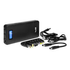 Внешняя батарея TopON TOP-T72 18000mAh, Quick Charge 2.0, одновременная зарядка трех устройств для зарядки ноутбука, планшета, смартфона и аккумулятора автомобиля, черная