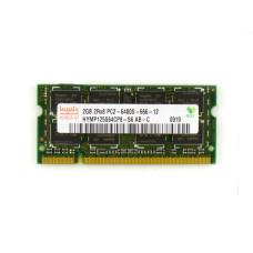 Память оперативная SODIMM DDR2 Hynix 2Gb 800 МГц (PC2-6400) CL6 1.8V, Б/У