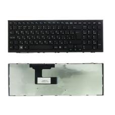 Клавиатура TOP-100519 для ноутбука Sony Vaio VPC-EL, VPCEL Series [черная, рамка черная, Г-образный Enter] TopON