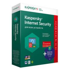 Антивирус Kaspersky Internet Security (установка/продление, Multi-Device, кол-во устройств - 2, 12 м