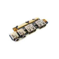 Плата 6-71-W95KB-D02 USB MIC Audio-Out для Dexp N2840 Б/У