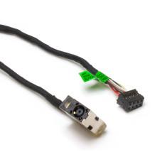 Разъем питания ноутбука 4.5x3.0 мм с иглой, PJ-582 для HP 250, 255, Pavilion 15-E, 17-E с кабелем 170 мм, Б/У