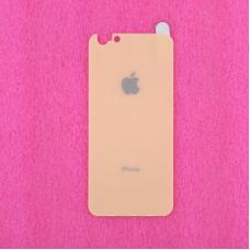 """Защитное стекло Apple iPhone 6/6S Plus, 5.5"""", 9H 2.5D, 0.6 мм, золотое, заднее"""