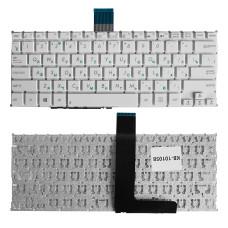 Клавиатура для Asus F200CA, F200LA, F200MA, X200 белая, без рамки, плоский Enter