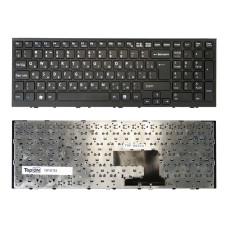Клавиатура для ноутбука Sony Vaio VPC-EE черная, рамка черная (TopON)