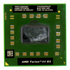Процессор AMD Turion 64 X2 Mobile TL-60 (Rev G1) 2 ГГц Socket S1 (S1g1), Tyler, TDP 31W, Б/У