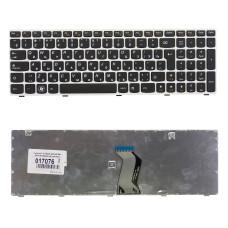 Клавиатура для ноутбука Lenovo Ideapad G580 G585 Z580 Z585 Z780 G780 черная, рамка белая, плоский Enter