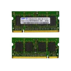 Память SODIMM DDR2 Samsung 512Mb, 533 МГц (PC2-4200)
