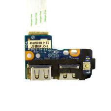Плата 2xUSB LS-7911P Q5WV1/Q5W5SI для Acer NV56 NV56R10u V3-531 V3-531G V3-571G Б/У