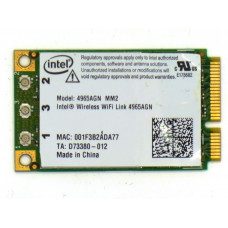 Модуль W-iFi 4965AGN INTEL mini PCI-E 2.4 / 5 ГГц 300 Мбит/с, Б/У
