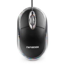 Мышь проводная Гарнизон GM-100, оптический, 3 + колесо-кнопка, 1000dpi, черный