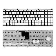 Клавиатура для ноутбука DNS Clevo W765K, C4500 белая, без рамки, плоский Enter