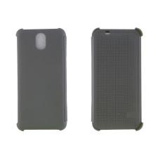 Чехол-книжка для HTC Desire 620/820 пластиковый корпус, крышка силикон Dot View серый