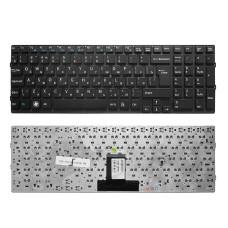 Клавиатура для ноутбука Sony Vaio VPC-EB черная, без рамки, Г-образный Enter (TopON)