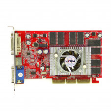 Видеокарта Palit GeForce FX 5500 128Mb Мб GDDR, VGA, DVI, Б/У