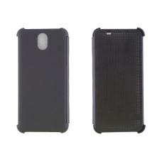 Чехол-книжка для HTC Desire 620/820 пластиковый корпус, крышка силикон Dot View черный