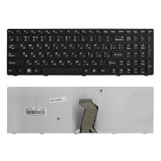 Клавиатура KB-101599 для ноутбука Lenovo IdeaPad Y570, Y570A Series [черная, рамка черная] TopON