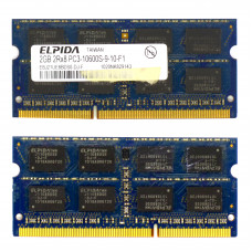 Память SODIMM DDR3 Elpida 2Gb, 1333 MHz (PC3-10600) CL9 1.5V, Б/У