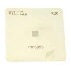 Трафарет BGA WYLIE K20 для PM8953