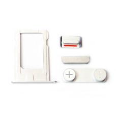 Комплект кнопок и лоток под SIM для смартфона Apple iPhone 5, серый