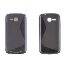 Чехол-накладка для Huawei Ascend Y600 Hero 3 силикон черный