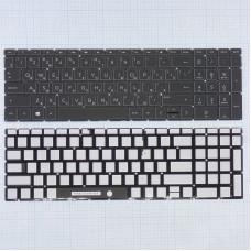 Клавиатура HP 15-db000 15-da000 15-dw000 черная без рамки плоский Enter с подсветкой, новая