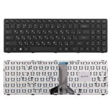 Клавиатура KB-102176 для ноутбука Lenovo Ideapad 100-15, 100-15IBD Series черная, рамка черная, плоский Enter