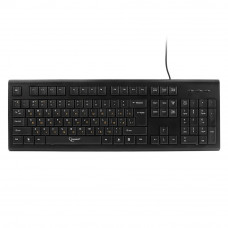 Клавиатура Gembird KB-8353U-BL черная, USB, Г-образный ENTER